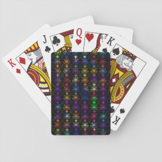 Multi Colored Floral Designed Playing Cards