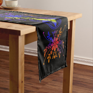 Multi Colored Floral Short Table Runner