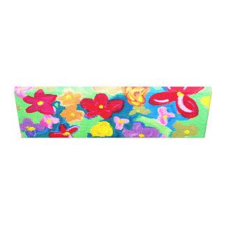 Multi Colored Flowers Canvas Prints