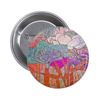Multi Colored Flowers In Pastels 6 Cm Round Badge