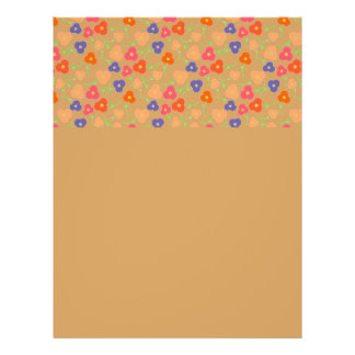 Multi- Colored Flowers Pattern 21.5 Cm X 28 Cm Flyer