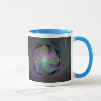 Multi Colored Fractal Fan Mug