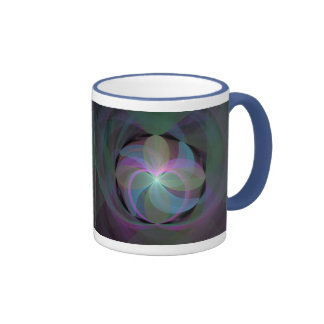 Multi Colored Fractal Fan Ringer Mug