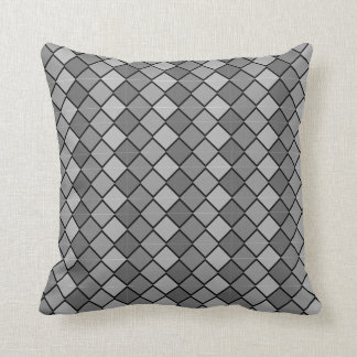 Multi Colored gray Pillow with diamond shapes