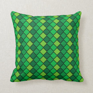 Multi Colored Green Pillow with diamond shapes