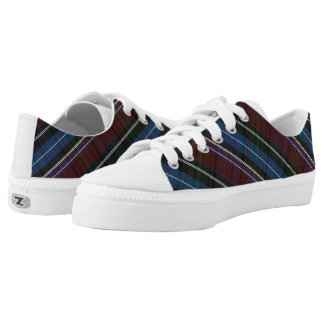 Multi-colored horizontal stripes printed shoes