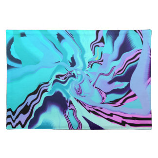 Multi-colored Jewel Toned Blues Cloth Placemats