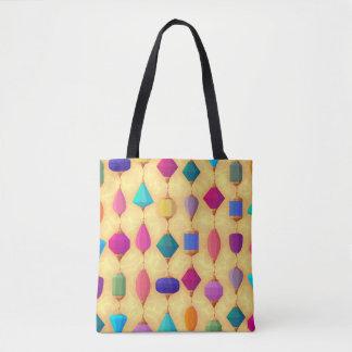 Multi-Colored-JEWELS-Sophisticated-Handbag-Tote Tote Bag