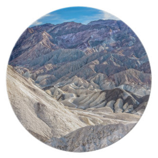 Multi Colored Landscape at Zabriskie Point Party Plate