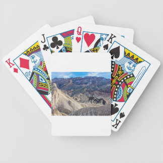 Multi Colored Landscape at Zabriskie Point Bicycle Playing Cards