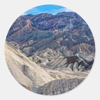 Multi Colored Landscape at Zabriskie Point Round Sticker