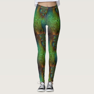 MULTI-COLORED LEGGINGS ABSTRACT