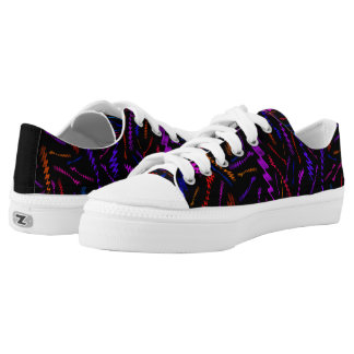Multi Colored Low Top ZigZag Printed Shoes