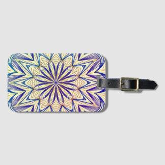 Multi-colored Mandala Design version 1 Luggage Tag