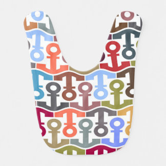 Multi Colored Nautical Anchor Pattern Bib