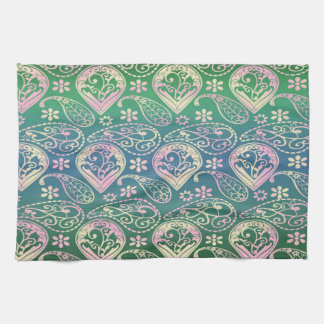 Multi Colored Paisley Kitchen Towel