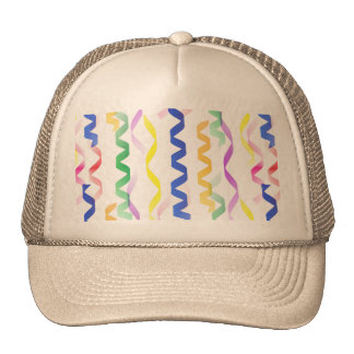 Multi Colored Party Streamers on White Hat