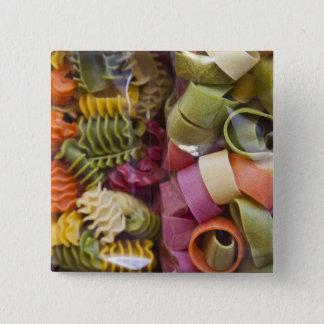 Multi colored pasta, Torri del Benaco, Verona 15 Cm Square Badge