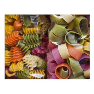 Multi colored pasta, Torri del Benaco, Verona Postcards