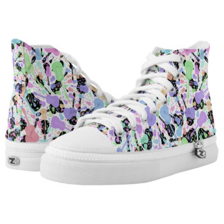 Multi Colored Pastel Guitar High Tops