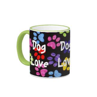 Multi-Colored Paws - Dog Love Ringer Mug