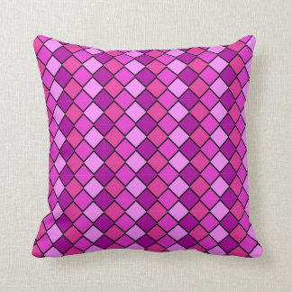 Multi Colored pink n Purple Pillow diamond shapes