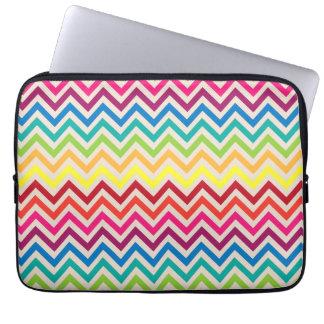 Multi-Colored Rainbow Candy Chevron pattern Laptop Sleeve