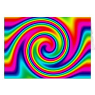 Multi-Colored Rainbow Twirl Cards