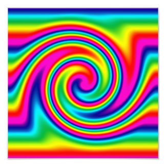 Multi-Colored Rainbow Twirl Photograph