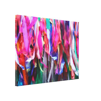 Multi Colored Ribbons Gallery Wrap Canvas