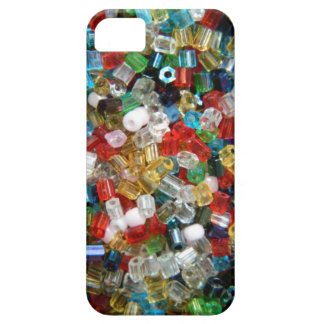 Multi-colored seed beads texture iPhone 5 cover