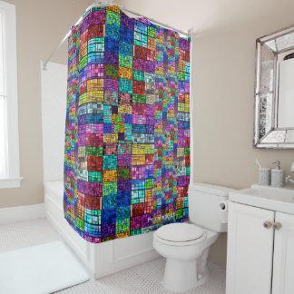 Multi-Colored Shower Curtain