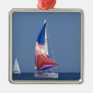 Multi Colored Spinnaker Christmas Ornament