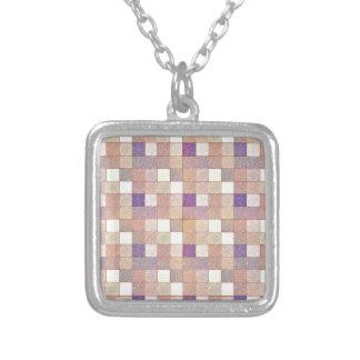 Multi Colored Square. Geometric Art Pendant