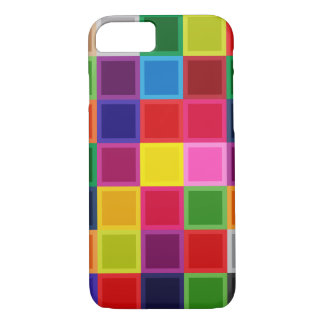 Multi Colored Squares Girly Iphone 7 case