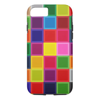 Multi Colored Squares Girly Iphone 7, Tough Case