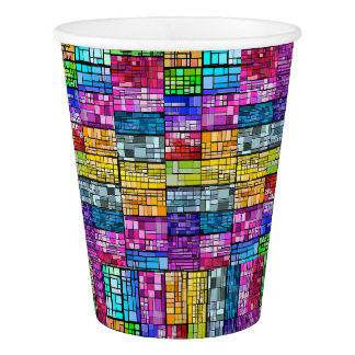 Multi-Colored Stained Glass Paper Cup