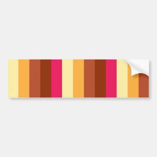 Multi Colored Stripes Bumper Sticker
