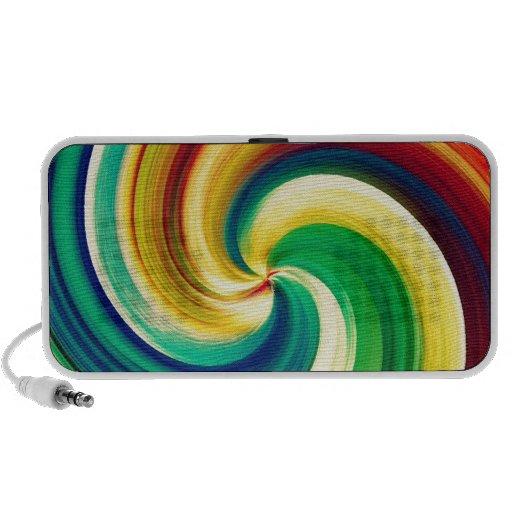 Multi colored Swirl Elegant Design Laptop Speakers