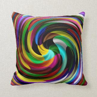 Multi Colored Swirl Retro Art Design Abstract Cushion