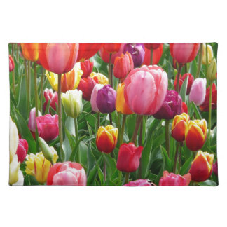 Multi-colored Tulips Placemat