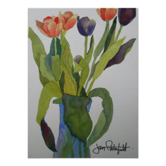 Multi-colored Tulips Print