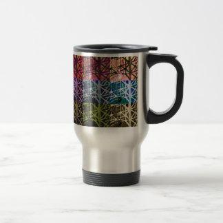 Multi Colored Urban Pattern Travel Mug
