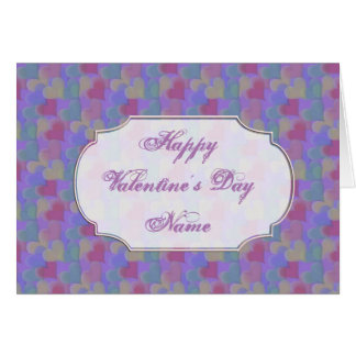 Multi-colored Valentine Hearts Greeting Card