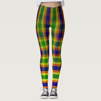 Multi Colored Vertical,Plaid,Horizontal Leggings