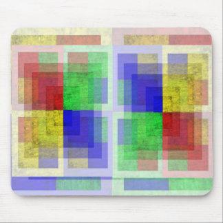 Multi-colored Woodgrain Mouse Pad