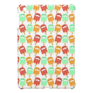 Multi -colorful Ice Cream with Mustaches iPad Mini Cases