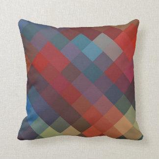 Multi Colors Diamond Seamless Pattern 2 Throw Pillow