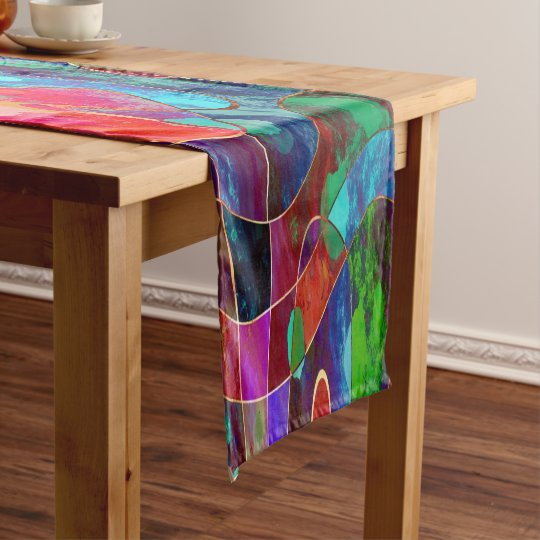 Multi-Colour and Gold Table Runner