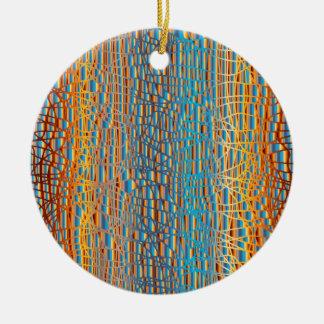Multi Colour Background Christmas Ornament